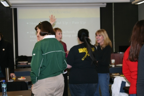 Getting acquainted with  Kagan Strategy, Stand Up, Hand Up, Pair Up