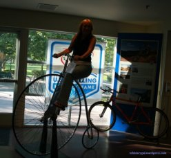 At the Bicycle Museum in  Davis, California, June 2012