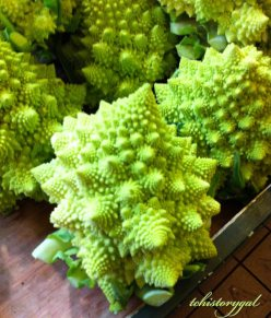 Spiky green vegetable.  Can you guess what it is?