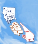 CCSS Local Regions Map blue blurred