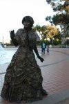 San Diego History Girls, golden girl, Balboa Park dark