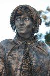 San Diego History Girls, golden girl, Balboa Park, pensive