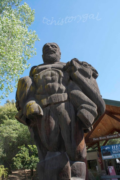 Paul is cracking up a bit, but he was carved in 1941 from one log!  He weighs tons.  I guess I'm skinny in comparison.