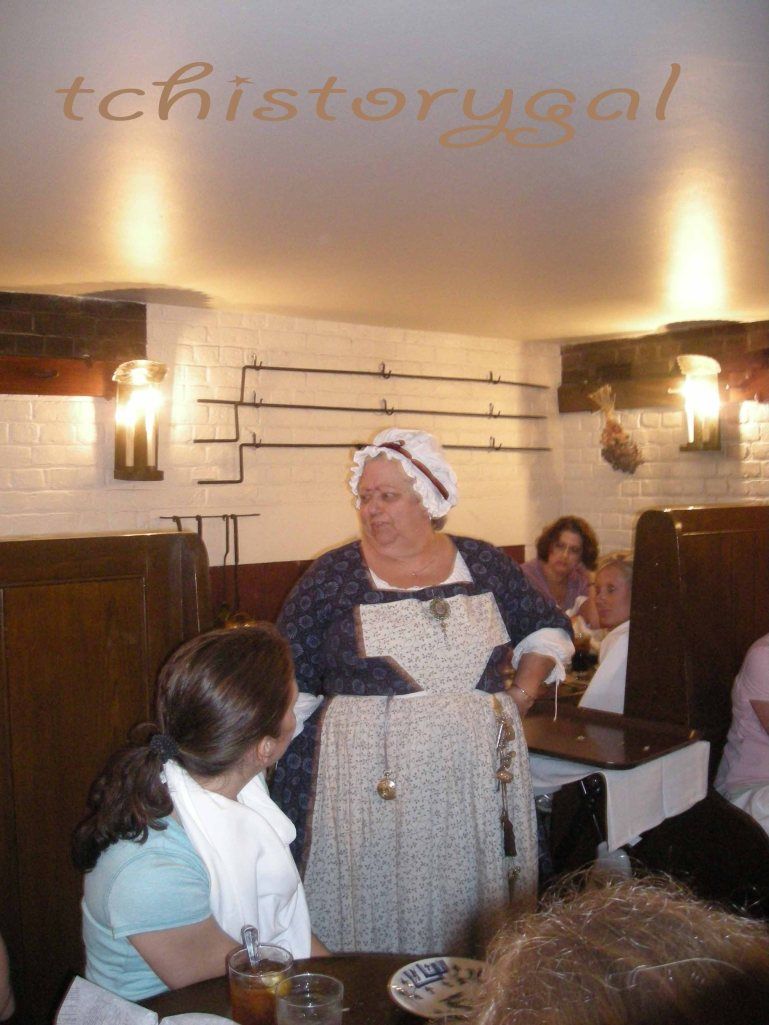 Re-enactors showed up everywhere to draw us into the 18th century daily life.