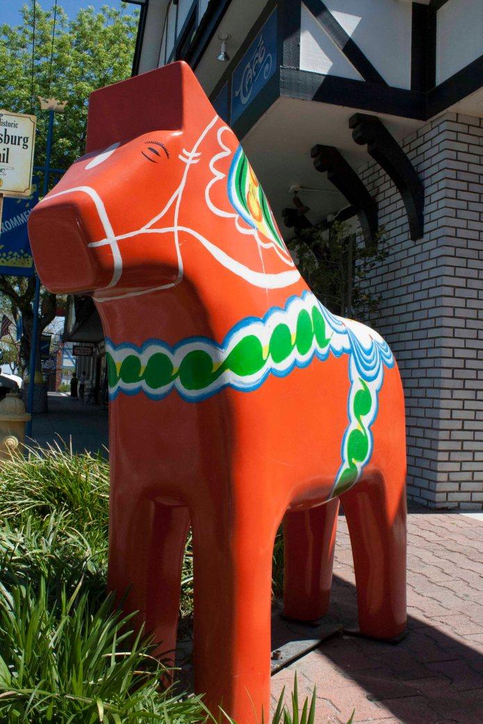 The Kingsburg horse is ubiquitous.