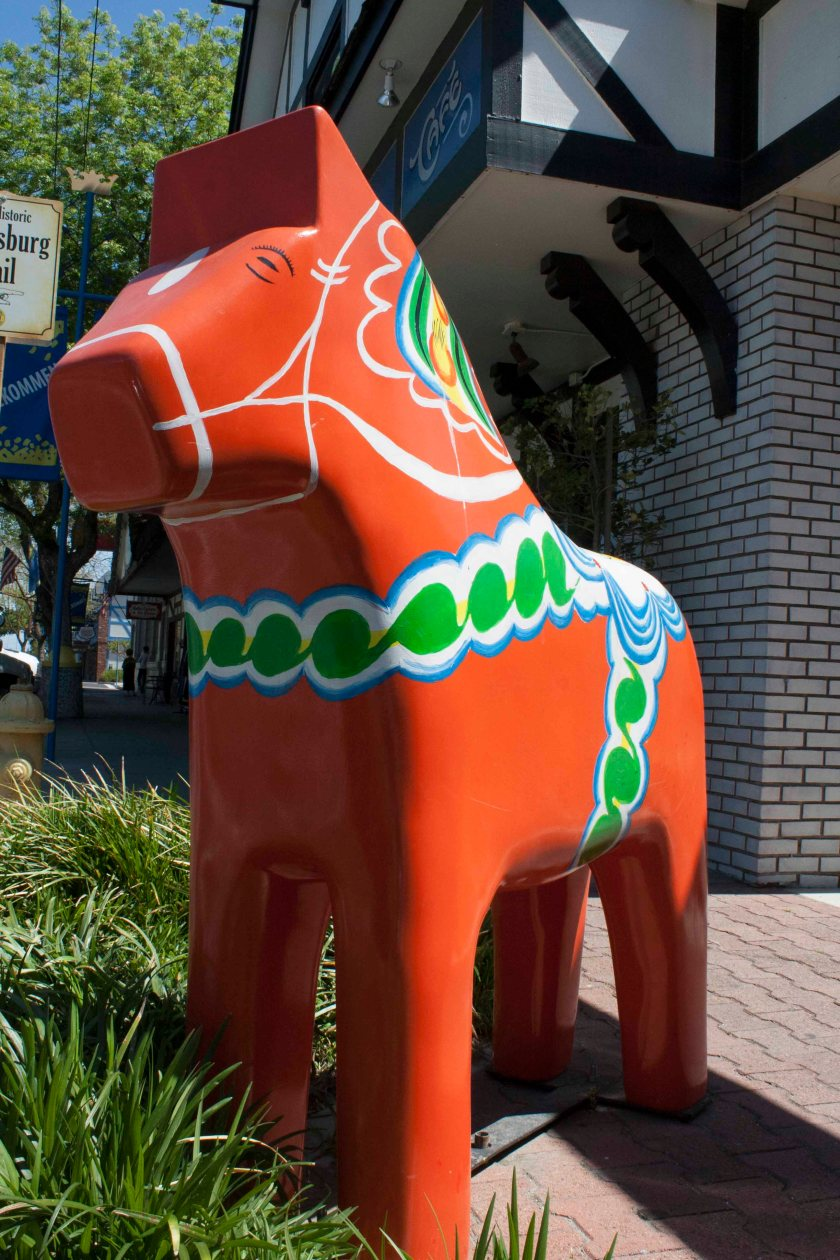The Kingsburg horse is ubiquitous.