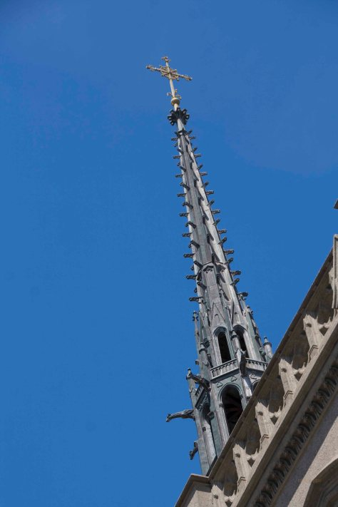 I had a hard time keeping up with the group!  This spire popped into view after we passed the front of the church.