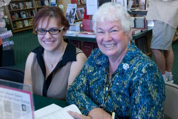Judy, on the right, co-authored the book, and told me what classes to take at the conference.  Huzzah, I had already chosen the best ones.