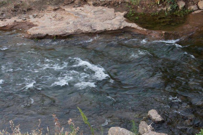 Kaweah River streaming into Bravo Lake