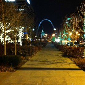 2013 St. Louis, MO lights arch and capital in background