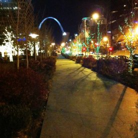 2013 St. Louis, MO lights bright sidewalk