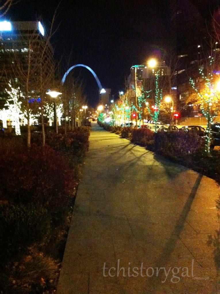 2013 St. Louis, MO lights bright sidewalk