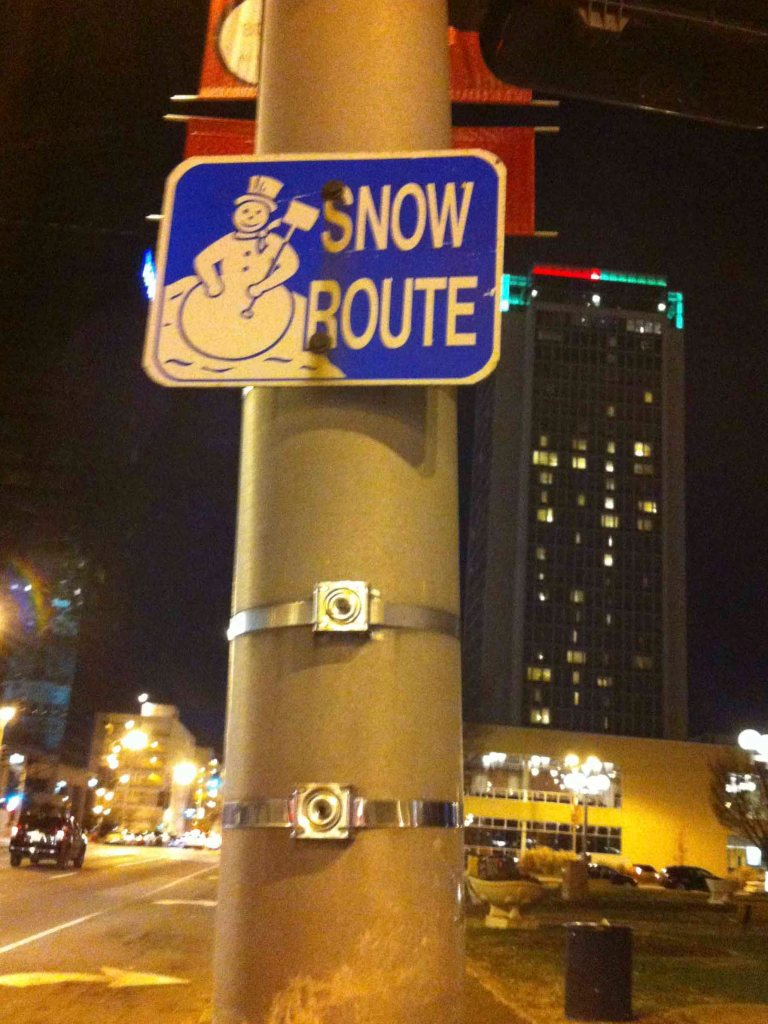 2013 Streets of St. Louis, MO snow route sign