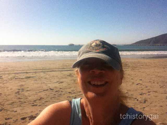 Marsha at Avila Beach 2013