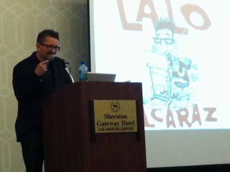 Lalo Alcarez at the CCSS Conference in Los Angeles