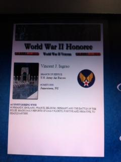Vincent J. Ingrao, WWII Veteran
