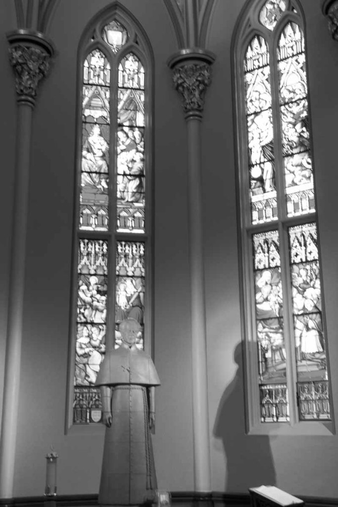 Notre Dame BW Glass