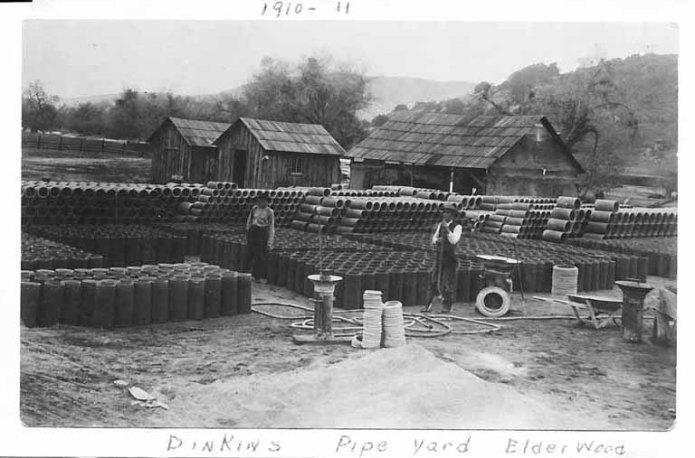 Abe Dinken's Shingle Factory in Elderwood,  CA  (Courtesy of the Hengst family.)
