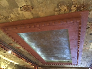 recessed lighting in the theatre room at Taliesin West