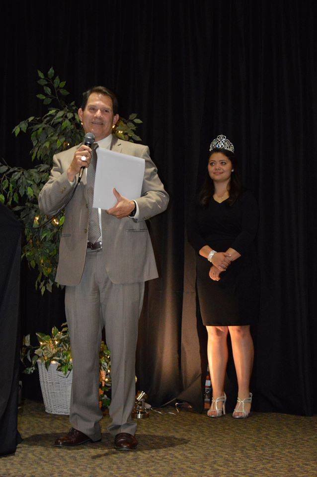 Spirit of Woodlake Award Winner, Tony Casares and Miss Woodlake, Sonni Hacobian.