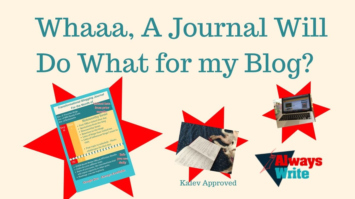 If I Blog, I Should Journal. Whaaaaa