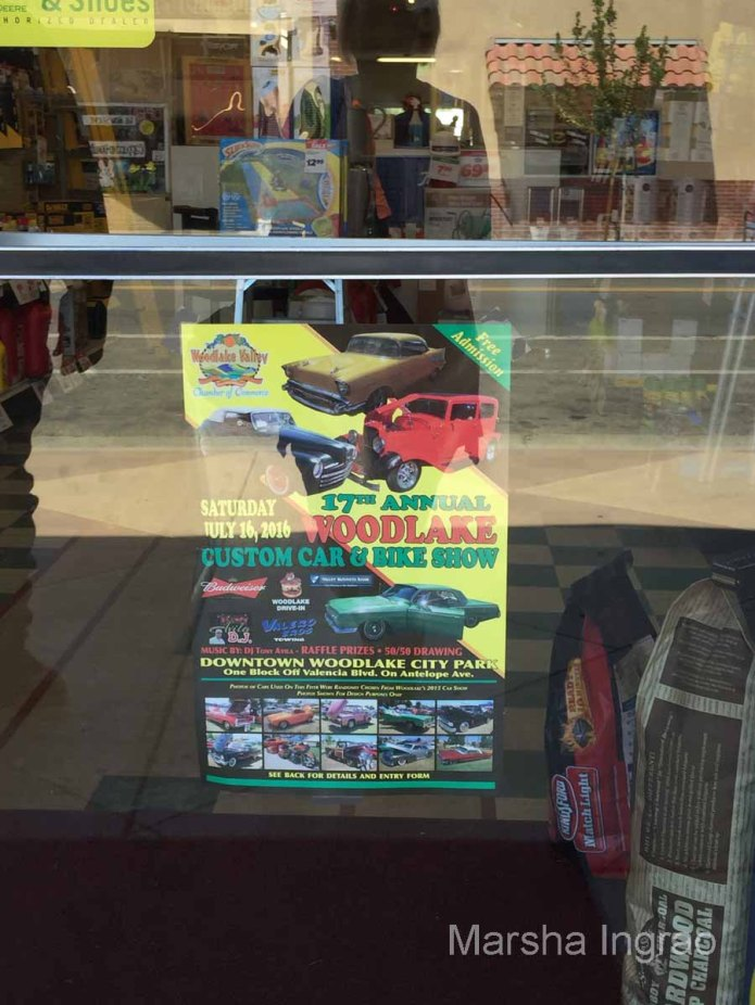 Woodlake Chamber of Commerce Car Show Poster for July 16, 2016