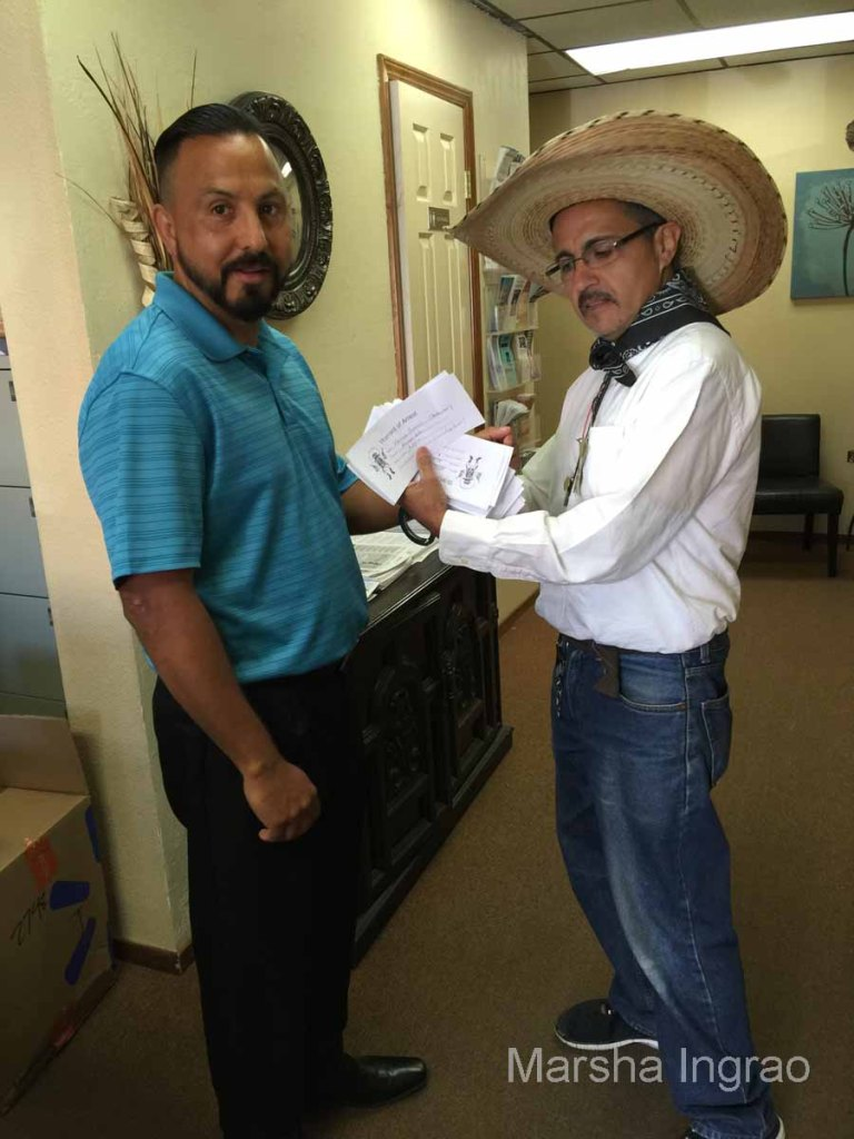 Woodlake Chamber of Commerce jails infamous public figures during Western Week prior to the big rodeo in May.
