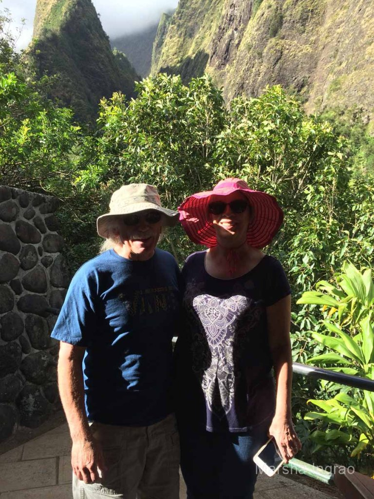 We climbed hundreds of stairs to take this picture at the top of Iao State Park.