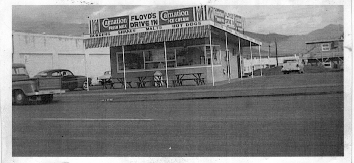Woodlake Drive-In in 1961.