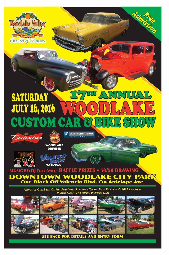 Details: Saturday, July 16 7:00-3:00 at the City Park, also known as the Miller Brown Park Judging starts at 10:00 a.m. SEE YOU THERE!