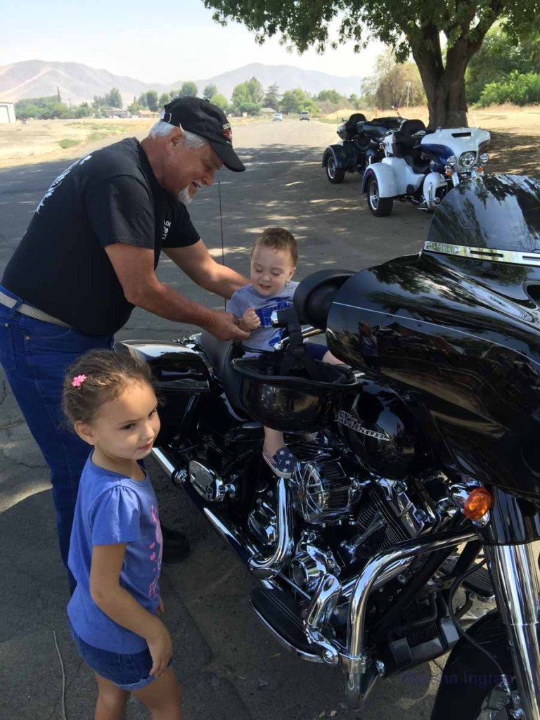 Motorcycles attract all ages.