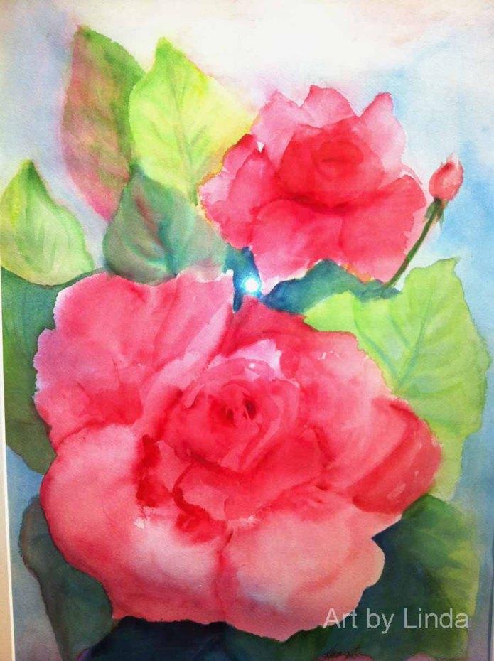 Flowers inspire Linda.