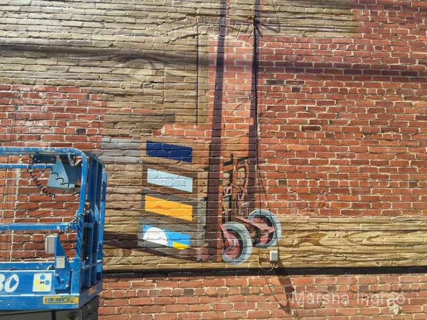 Mural Painting on  brick buildings