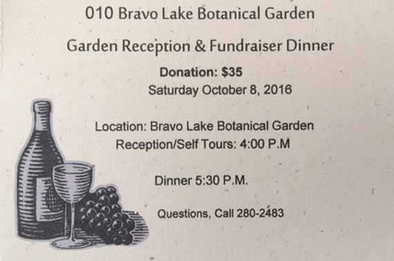 Garden Reception, October 8, 2016