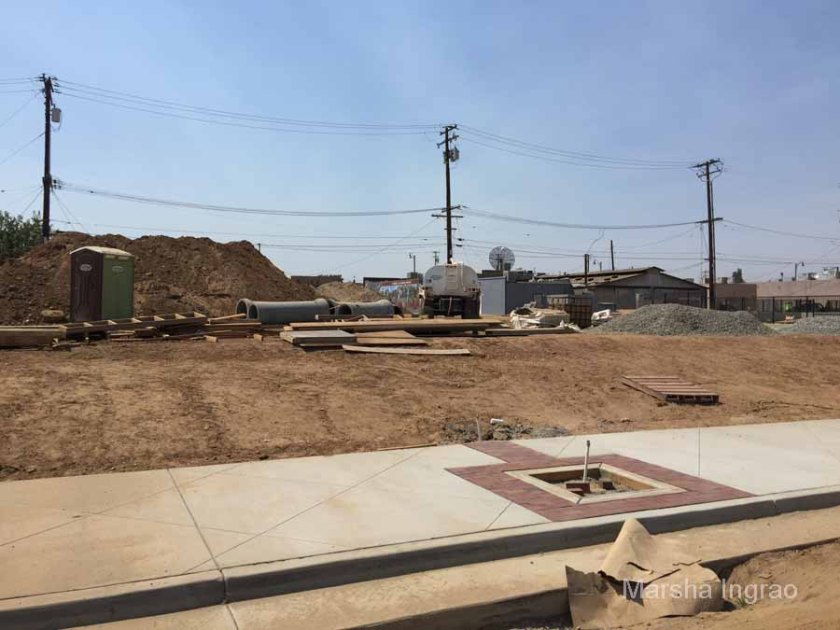 August 2016 sidewalks are in