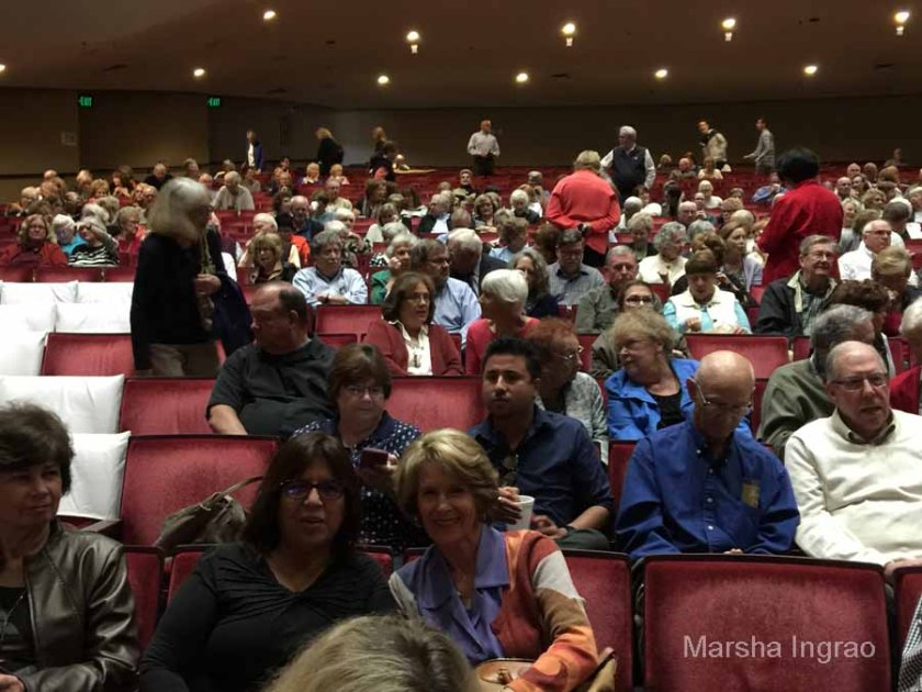 The Saroyan Theater filled up quickly. Connie and Monica posed for me.