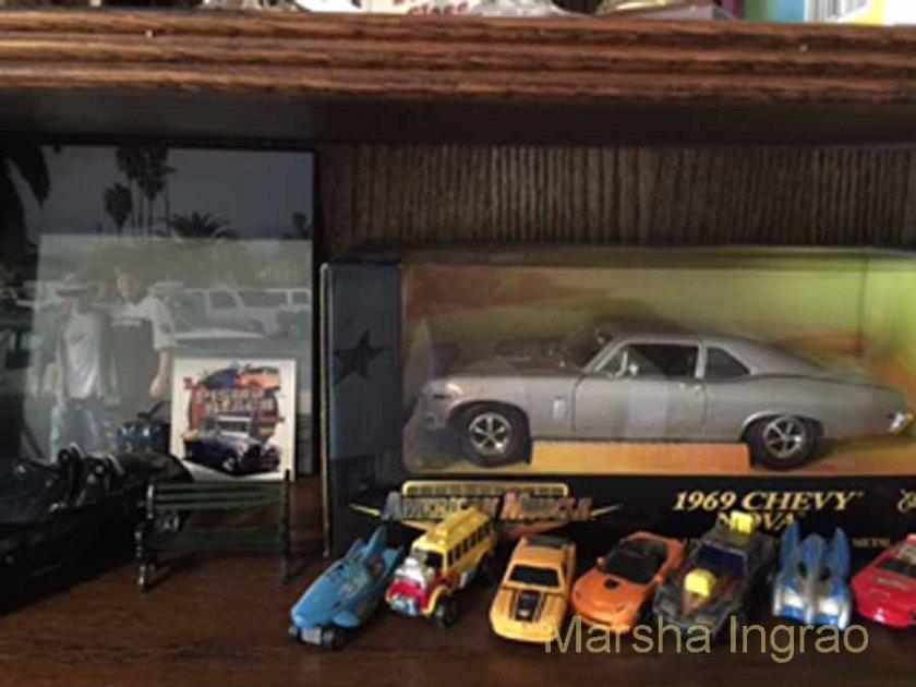 A few of my husband's tiny cars