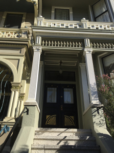 Wooden Door, Painted Ladies, San Francisco