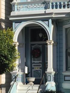 Door with wreath, Painted Ladies, San Francisco