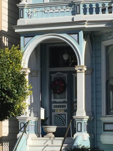 Door with wreath, Painted Ladies, San Francisco