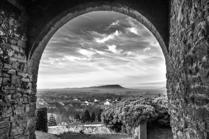 Unusual Perspectives, looking down over Clitheroe from the castle