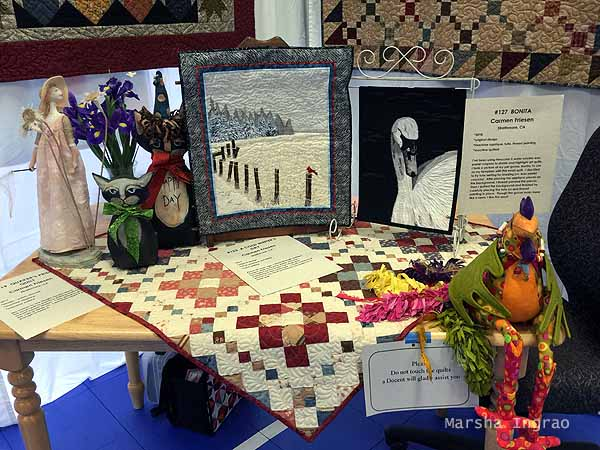 table display of quilts