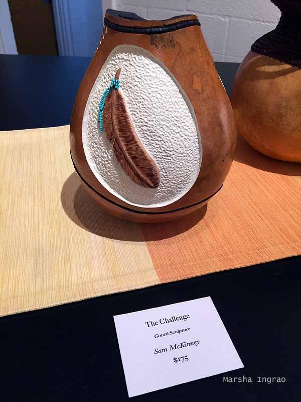 carved gourd vase