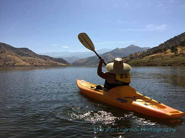 kayaking  Kaweah Lake