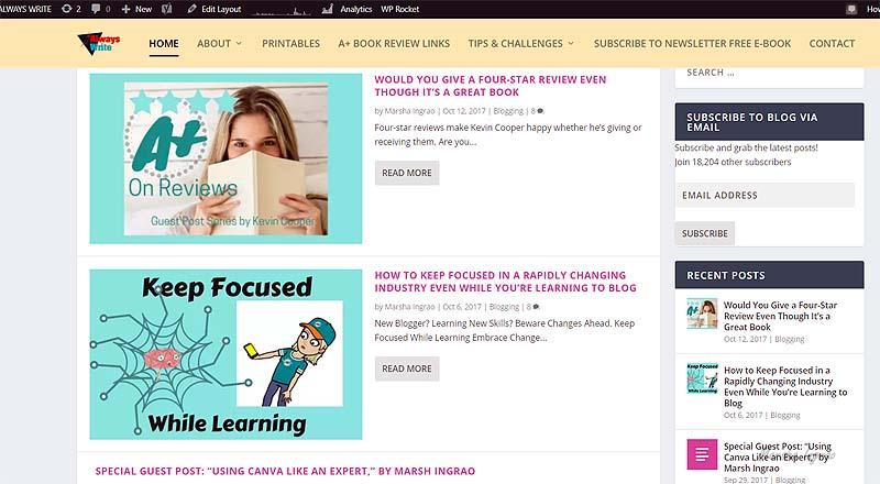 Assess blog goals