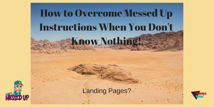 landing page frustration