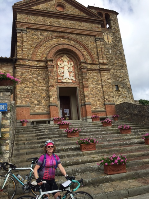 Lisa cycled in Tuscany