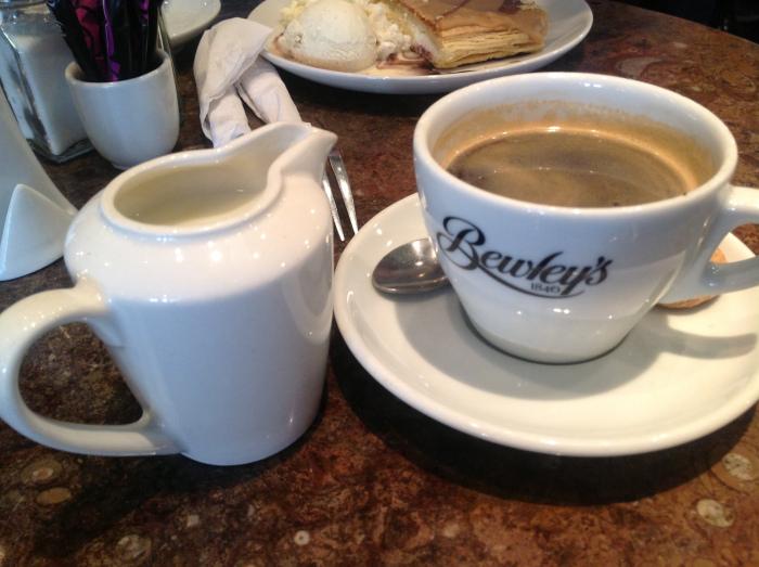 Carol's cup of Irish coffee