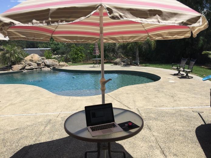 Blogging in Sunny CA