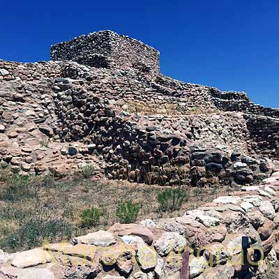 Top level of the Tuzigoot Cliff Dwellings